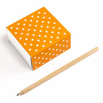 Caja deslizante - 8x8x4cm - Orange Dots