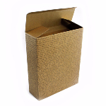 Caja de 3 botellas sin asa - Kraft Text Black