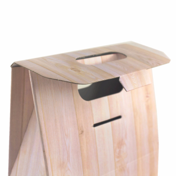 Caja de 3 botellas con asa - Wood