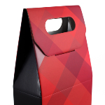 Caja de 2 botellas con asa - Red Diamonds