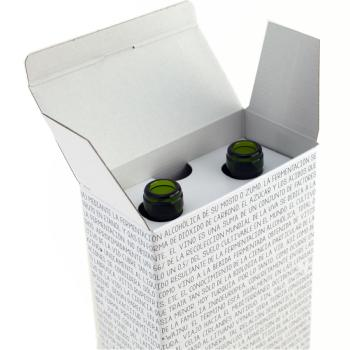 Caja de 2 botellas sin asa - Text Black